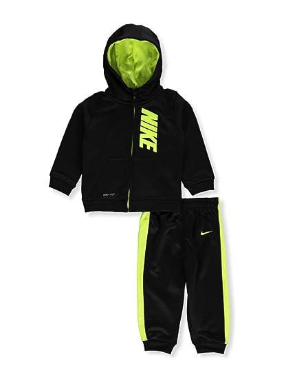 f3f978d7629 Amazon.com  Nike Baby Boys  2-Piece Therma Dri-Fit Sweatsuit - black ...