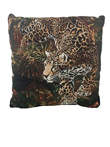 Scene Weaver Into Infinity Tapestry Throw Pillow Jaguar 18