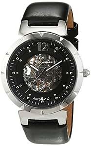 Carlo Monti CM800-102 - Reloj de mujer automático, correa de piel color negro