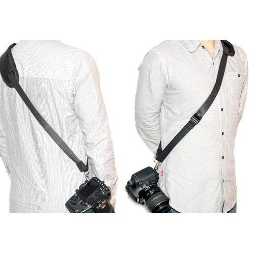 JJC NS-J1 - Quick Strap Kameragurt (Tragegurt, Schultergurt, Trageriemen) für schonenden Tragekomfort - ergonomisch geformt - z.B. für Canon EOS 10D, 20D, 30D, 40D, 50D, 60D, 300D, 350D, 400D, 450D, 500D, 550D, 600D, 650D, 1000D, 1100D