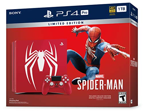 Playstation 4 Pro 2TB SSHD Limited Edition Console - Marvels Spider-Man Bundle Enhanced with Fast Solid State Hybrid… 4