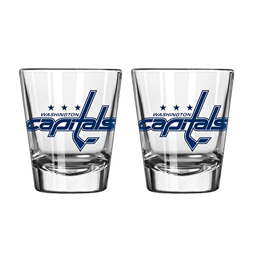 NHL Washington Capitals Game Day Shot Glass, 2-ounce, 2-Pack