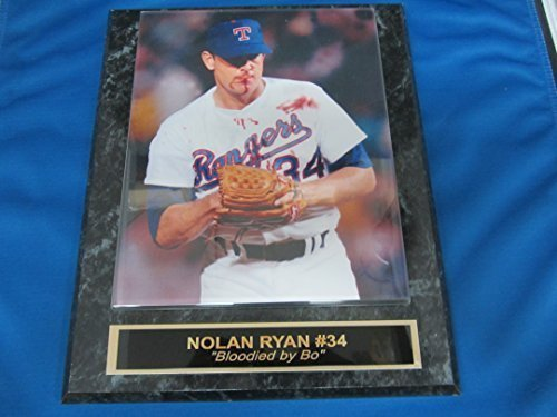 Rangers Nolan Ryan Collector Plaque w/8x10 Famous Photo BLOODIED BY BO