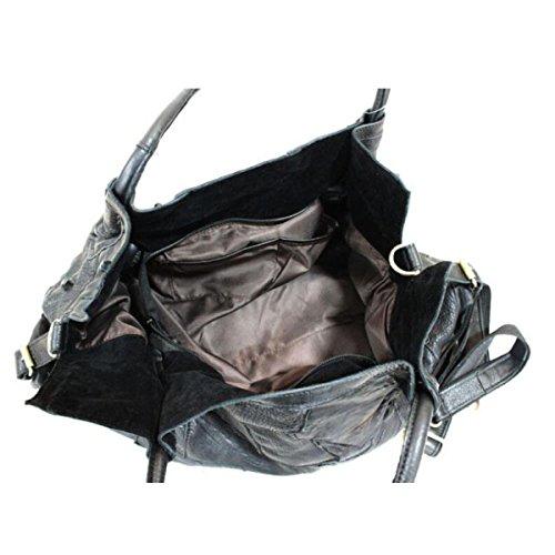 Shoulder Leather Stitching Women's Black Bag Bag Personalized Fashion Handbag Handbag Handbags Colored Bag Messenger Handbags pSSqXfU7
