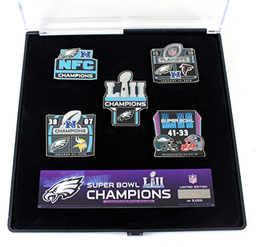 Philadelphia Eagles Super Bowl LII (52) Champions Five Pin Set - Limited 5,000 by aminco