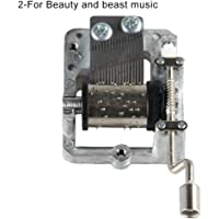 Sanwooden Creative Gift Music Box Mechanism Hand Crank Music Box Movement for Harry Potter Sky City Beauty Beast Toys for All Ages