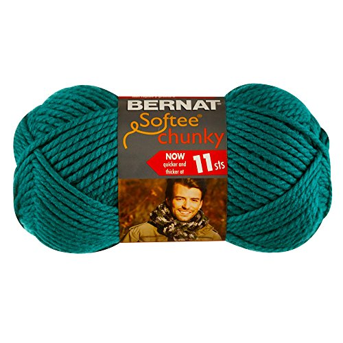 Bernat Crochet Patterns (Bernat Softee Chunky Yarn, Emerald, Single Ball)