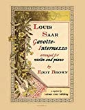 img - for Saar, Louis Victor : Gavotte-intermezzo for Violin and Piano book / textbook / text book