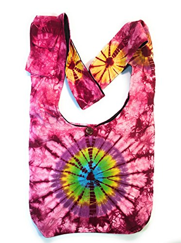 (Tie Dye Cross Body Shoulder Handbag Purse in Pink )