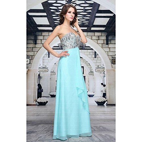 Für Kleid Maxi Festamo Pailletten Ball Hellblau bei Damen Design Ital Pnxx4Tw