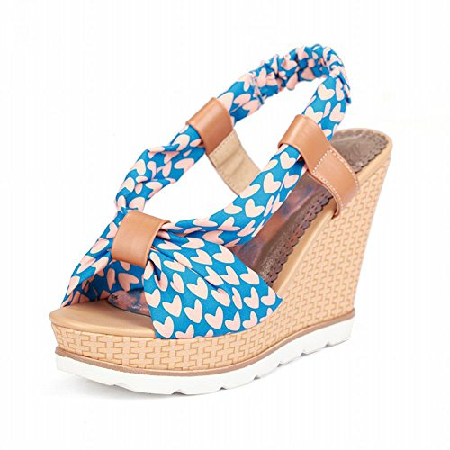 Ciondolo Sandalo Donna Estate Sandalo Open Toe Sandalo Blu Cielo
