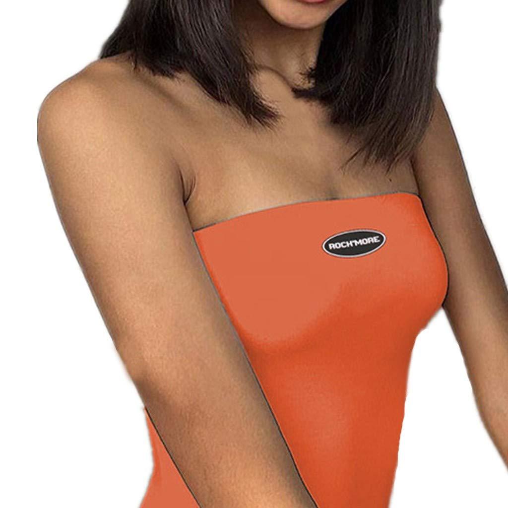 Mysky Fashion Women Summer Sexy Tube Tops Bodycon Lingerie Sleepwear Backless Jumpsuit