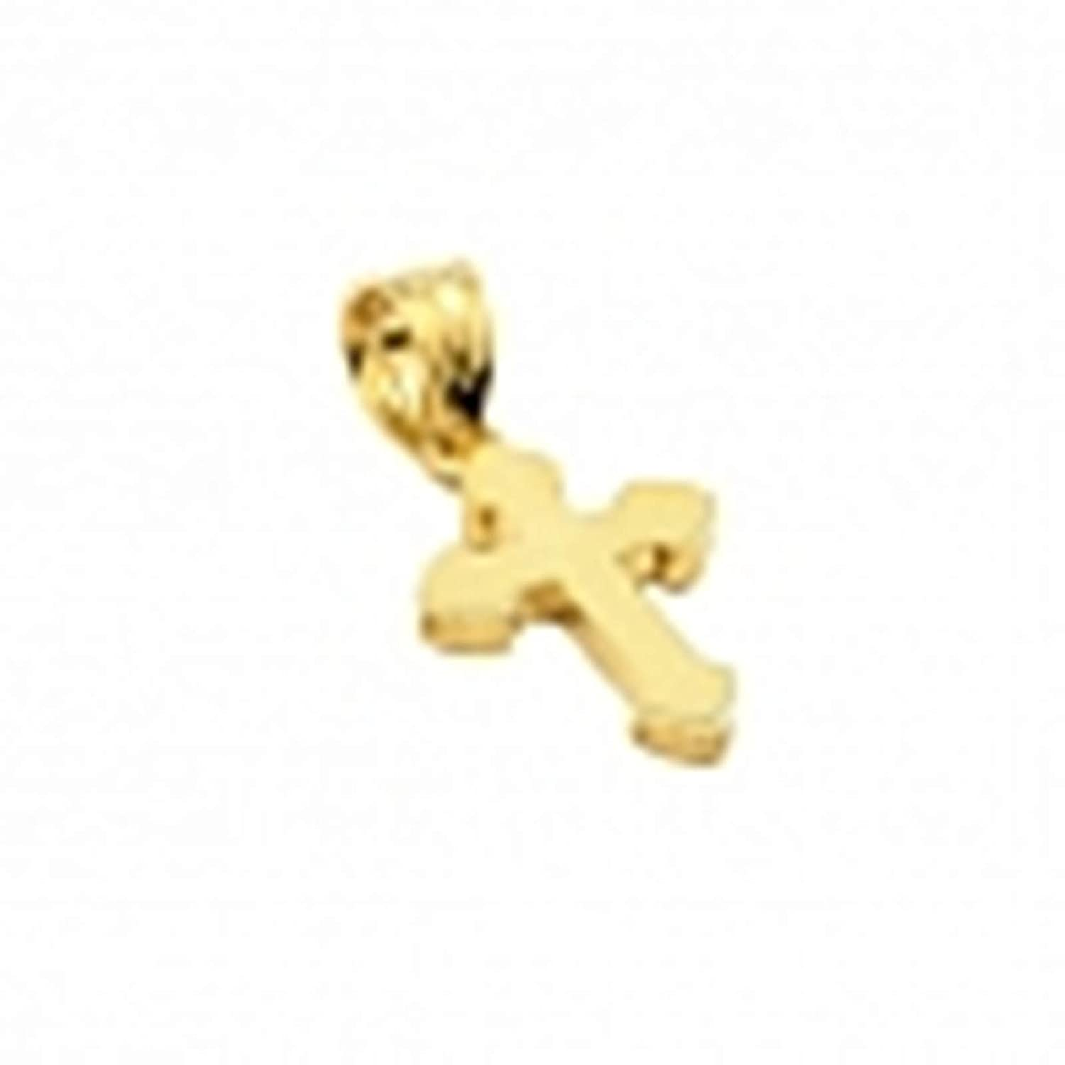 Aienid Rose Gold Plated Small Cross Pendant Pendant