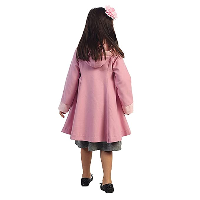 Amazon.com: Angels Garment Pink Wool Hooded Swing Coat Toddler ...