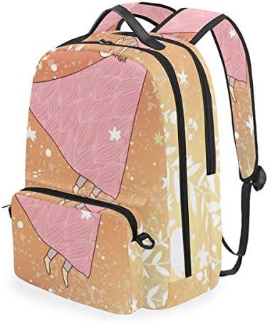 YCHY Angel Sky Nordlichter Vektor Vintage,Schulrucksack mit abnehmbarem Federmäppchen,2-in-1-Reiserucksack für 15-Zoll-Laptop für Mädchen oder Jungen