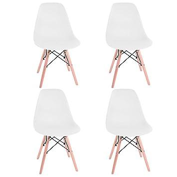 Panana 4 x Silla de Madera Retro salón Comedor Juego de Mesa sillas diseño de Oficina en casa