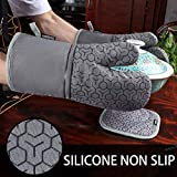 10 Piece Set Silicone Oven Mitts and Pot