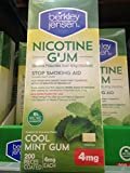 Berkley Jensen coated nicotine gum 200 ct 4 mg mint (pack of 6)