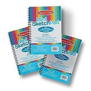 Melissa & Doug Mini Sketch Pad Bundle (3 Pack)