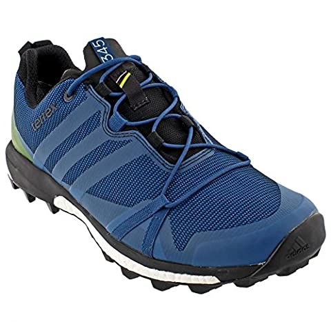 adidas Outdoor Men's Terrex Agravic GTX? Tech Steel/Craft Blue/Unity Lime Sneaker 9 D (M)