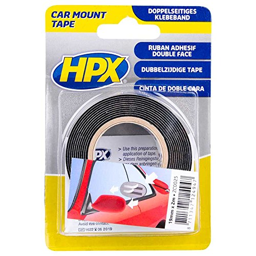 HPX mzc0025 –  Cinta Adhesiva de Doble Cara, 19 mm x 2 m 19mm x 2m Dupli-Color