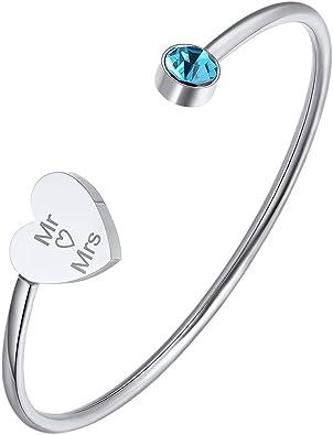 Fashion Bracelet en acier inoxydable manchette jonc ouvert Cristal Strass Accessoire