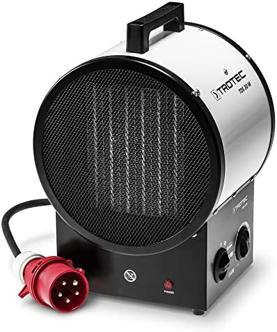 TROTEC TDS 30 M Ceramic Fan Heater with a high airflow and an advanced PTC heating battery technology