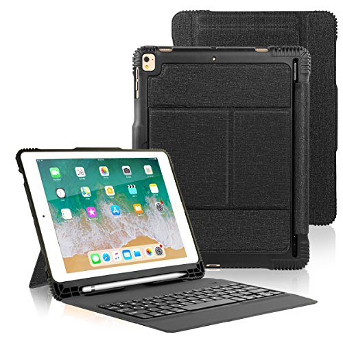 iPad Pro 10.5 / iPad Air 3rd Gen Keyboard Case with Pencil Holder, Detachable Bluetooth Keyboard with Shockproof Heavy Duty Full-body Protective Case for iPad Pro 10.5 / iPad Air 10.5 (3rd Gen) 2019 ()