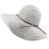 Mainstream Foldable Cotton Beach Sun Hats For Women Beach Sun Hat Foldable Brimmed Straw Hat,OneSize,Grey