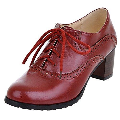 Tacco Moda Scarpe Heels Donna col Rosso con Cordoncino CularAcci qX5tz