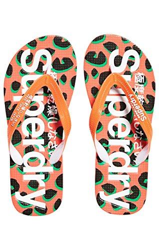 Superdry - Aop Flip Flop Plagettes Femme Multicolore (fluro Coral Animal Sp3)