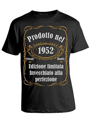Idea Invecchiato Perfezione Vintage Nel Nero Prodotto Eventi Alla Edizione Tshirt 1952 Compleanno Regalo Limitata Cotone In Quality 8PgWqnY