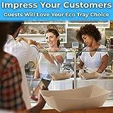 Eco Friendly, USA-Made 3lb Food Holder Trays 150
