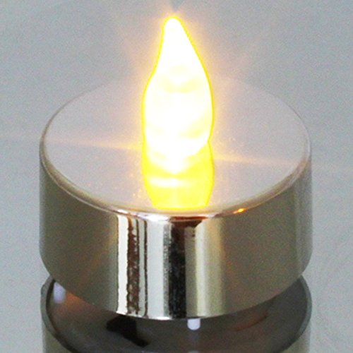 Set of 6 Silver LED Tealights by Luxury Candles by Luxury Candles (Image #1)