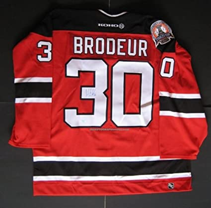 wholesale dealer f7027 3a358 Martin Brodeur Autographed Devils Jersey at Amazon's Sports ...