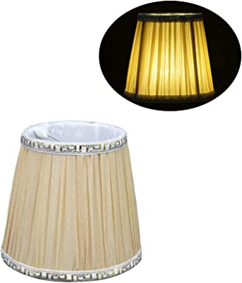 Pantalla de lámpara,Pantalla de Tela Vintage Redondo para Lampara ...