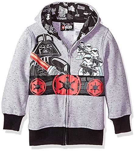 Star Wars Little Boys' Hooded Sweatshirt, Gray, 4]()