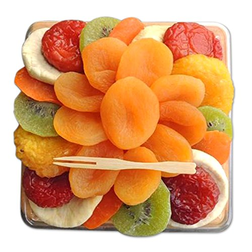 Crafted Kosher Apricot Flower Certified Kosher Dried Fruit Premium Gift Tray with Cutting Board 10 oz 1 Pack