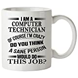 Computer Technician Mug 11 Oz - Computer Technician Gifts - Unique Coffee Mug, Coffee Cup #02