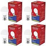 Ajanta Quartz4 Base B22 3-Watt LED Bulb (Pack of 4, White)