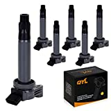 QYLPack of 6 Ignition Coil for 04 05 06 07 08 09 10 Toyota Lexus Camry Solara Sienna Highlander ES330 RX330 3.3L V6 C430 UF430 C1452 UF-430