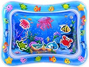 MAGIFIRE Tummy Time Baby Water Mat Infant Water Mat for 3 6 9 Months Boys Girls Promotes Visual Stimulation (J