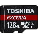 Toshiba EXCERIA M302-EA Micro SDXC 128GB bis zu 90MB/s, UHS-I Klasse 10 Speicherkarte (inkl. microSD zu SD Adapter)