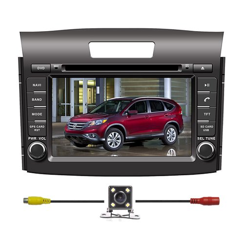 BlueLotus® In-dash 7″ Car DVD Player GPS Navigation for Honda Cr-v 2012 2013 2014 w/Tv Radio Bluetooth Steering Wheel Control RDS Sd/usb Av + Reverse Car Rear Camera + Free USA Map Review