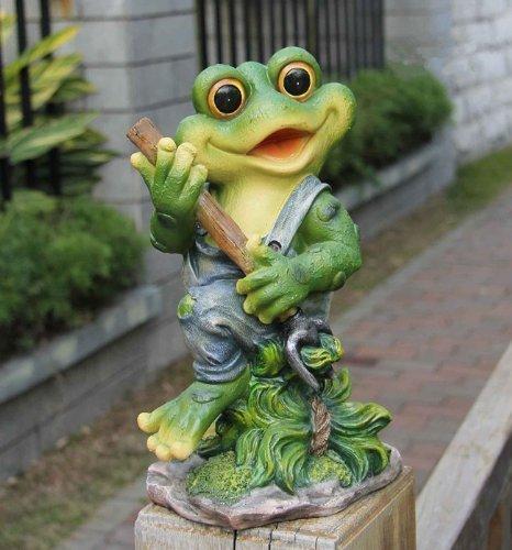 Frosch XL 29 cm Hoch  Design 11151-3 Deko Garten Gartenzwerg Figuren Dekoration