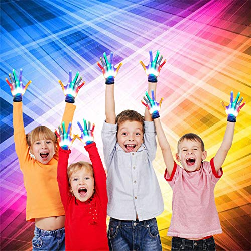 ATOPDREAM Cool Fun Toys for 3-12 Year Old Boys Girls, Flashing LED Light Gloves Glow Gloves Autism Toys for Age 3-12…