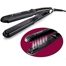 [Patrocinado] Vinmax Steam Flat Iron Hair Straightener,Professional Steam Hair Straightener Vapor Ceramic Flat Iron LED Temperature Control Fast Heating Hair,360°Swivel Cord,5 Modes for Dry&Wet Hair,Black