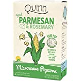 Quinn Popcorn Microwave Popcorn - Made with Organic Non-GMO Corn - Great Snack Food for Movie Night {Parmesan & Rosemary, 1 Box}