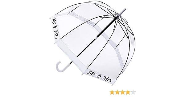 Fulton Birdcage-2 cúpula paraguas boda de la forma Sr. y señora - blanco: Amazon.es: Equipaje