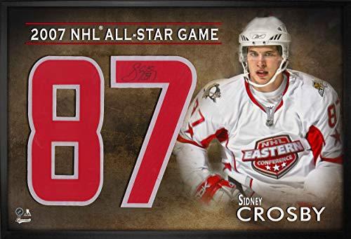 Sidney Crosby Signed Jersey - Frameworth Number Framed Print All Star 2007 White - Autographed NHL Jerseys